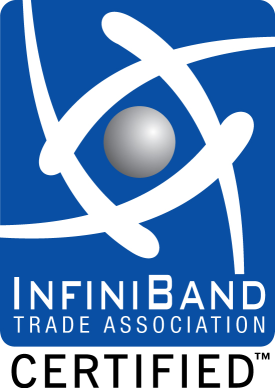 Certified by the InfiniBand Trade Association